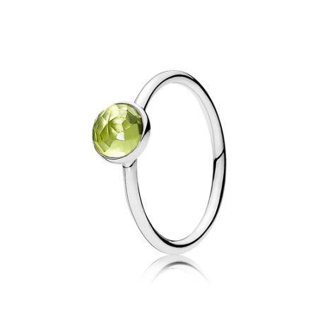 Pandora 8月橄欖石生日石925銀戒指 NT2,080