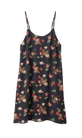 單品三女裝細肩帶洋裝(花紋)NT$690