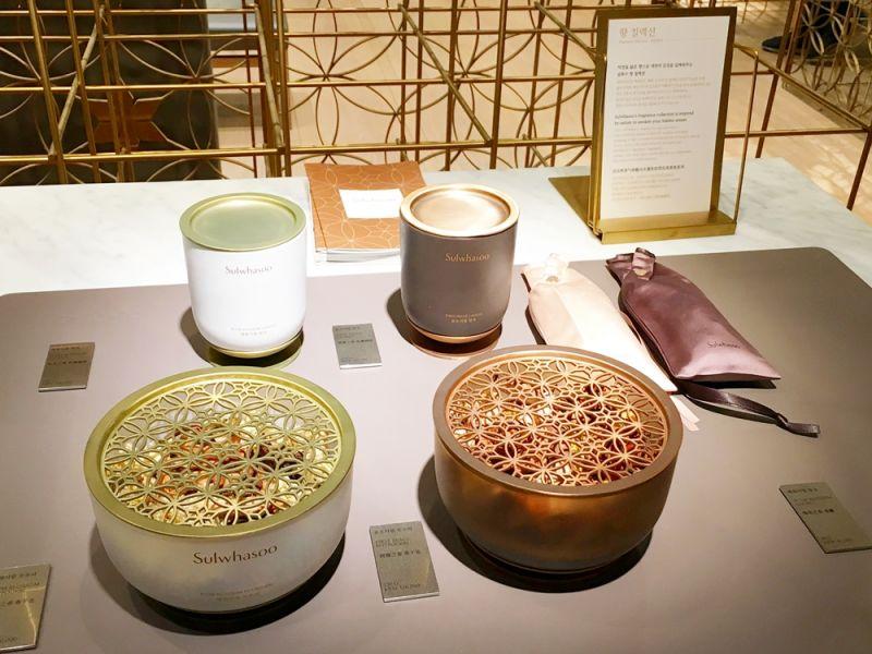 雪花秀香氛系列,品項包含香氛蠟燭、香氛乾燥花、香囊,只有在韓國首爾旗鑑店買得到。