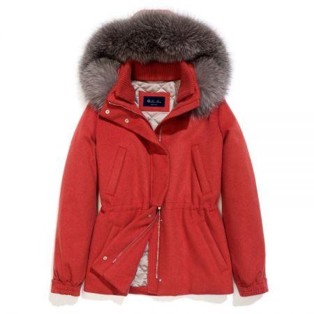 紅色喀什米爾滑雪夾克