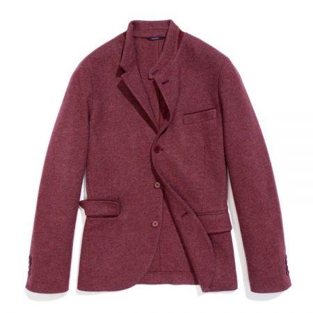 紅磚色喀什米爾針織夾克(男)