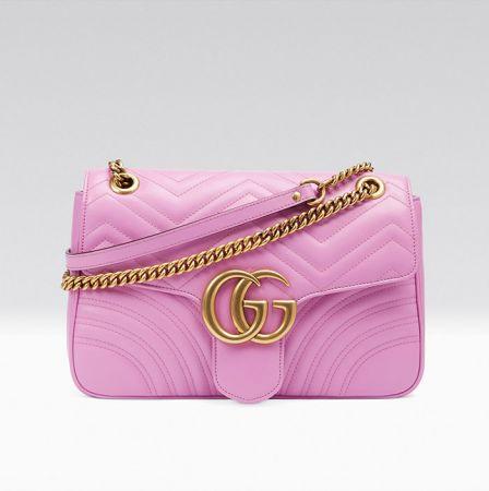 GG Marmont粉紅色鍊帶包NT$76,100
