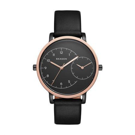 Hagen 兩地雙時區腕錶黑色面盤款,NT9,550,SKAGEN