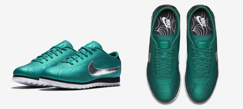 NIKE CORTEZ ULTRA LOTC初代傳奇躍世新生。作為Nike的第一雙跑鞋,這款融入綠色金屬鑲邊材質的初代傳奇,猶如在向1984年洛杉磯第一場女子馬拉松裡的女跑者們致敬。