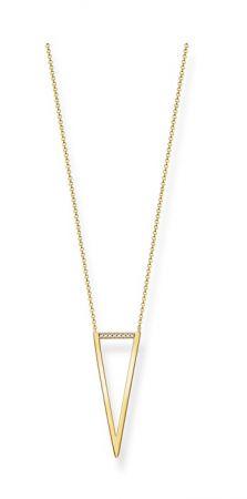 THOMAS SABO 鑲鑽金三角鏤空項鍊 NT$9,480