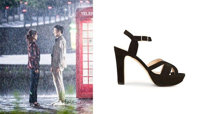 《Doctors》朴信惠劇中這幕經典雨中之吻,飾演劉慧靜的朴信惠踩上Minelli麂皮高跟鞋,打造知性浪漫的風格。