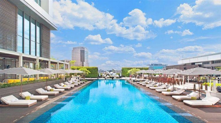 TOP1台灣台北 W 飯店5星級 - 最豪華的屋頂游泳池