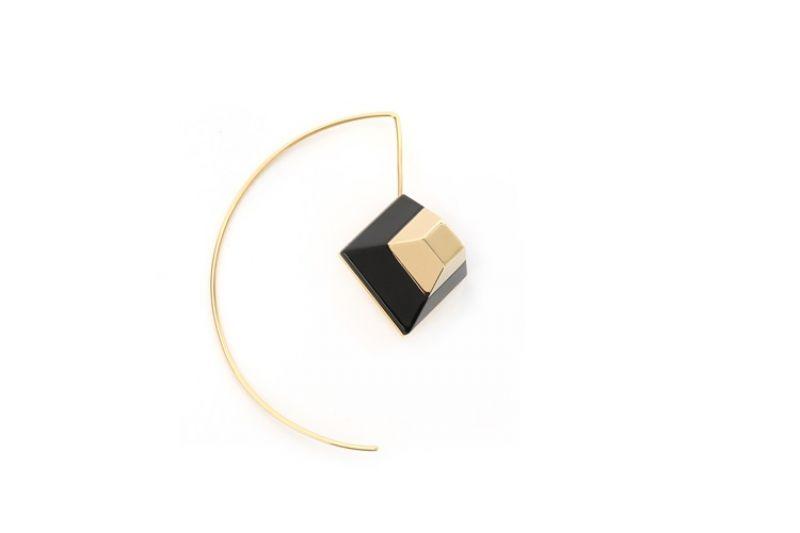 黑色鉚釘耳環$17100