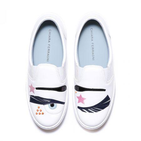 Flirting系列 Glam Rock白色厚底鞋$11,800.