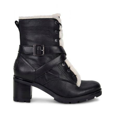 時尚皮靴系列 Ingrid 綁帶粗跟短靴 NT$11,800