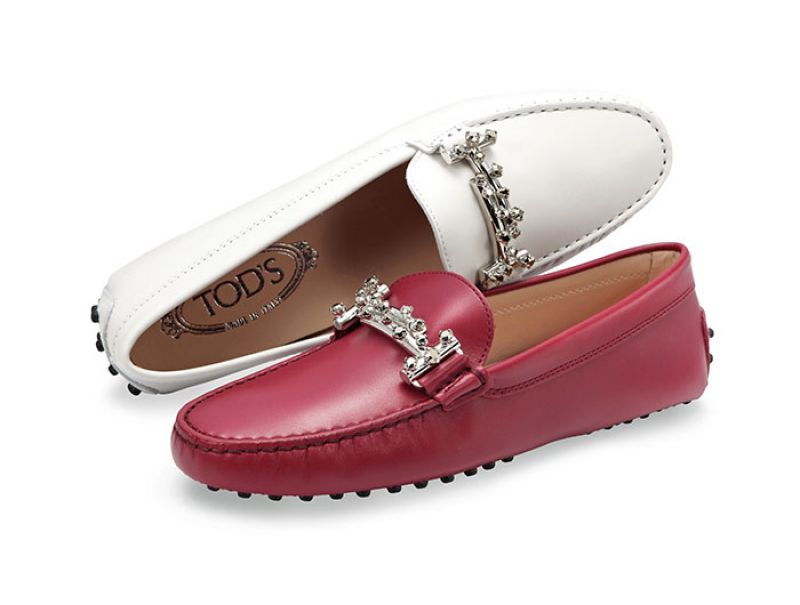 施華洛世奇水鑽Double T豆豆鞋NT$25,700