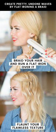 原來如此!這麼簡單就可以創造美麗捲度先把頭髮綁成辮子後,用平板夾夾住每一節辮子,夾完後再鬆開辮子,就是個漂亮捲度的女孩兒了!