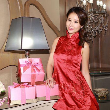 SHIATZY CHEN中式絲緞禮服手稿 背面