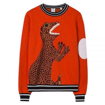 prxc-191r-v97-r-hr 橘色恐龍圖印針織毛衣 $31,800