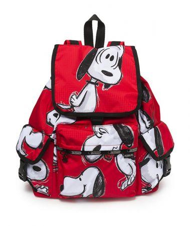 紅色手繪風多口袋後背包NT7350