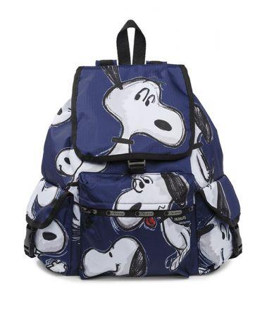 藍色手繪風多口袋後背包NT7350