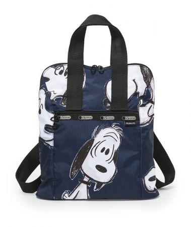藍色手繪風後背包NT5950
