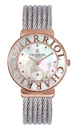 ST-TROPEZ Style腕錶系列珍珠貝母素面錶盤 鍍玫瑰金錶盤,建議售價NT68,300