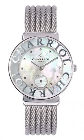 ST-TROPEZ Style腕錶系列珍珠貝母素面錶盤 精鋼錶盤,建議售價NT63,700