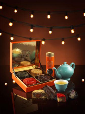 TWG Tea茗茶傳統月餅,四入茗茶月餅禮盒,建議售價NTD 1,420元