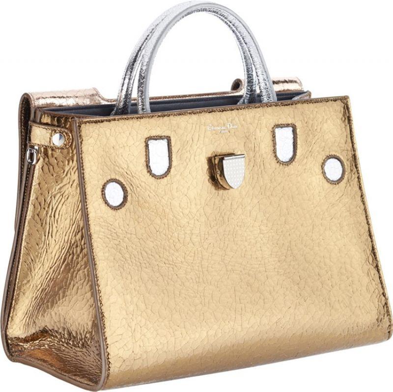 Diorever 中型金屬陶瓷光澤鹿皮提包NT$130,000 (Large)