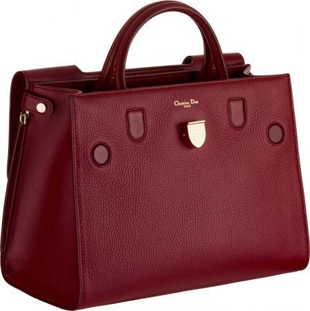 Diorever中型勃艮地小牛皮提包 NT$123,000 (Large)