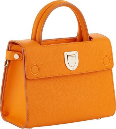 Diorever迷你金盞花橘色小牛皮提包 NT$105,000 (Large)