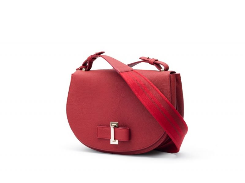 Simplissime系列 Le Mutin絳紅色小牛皮肩背包 NT$136,000