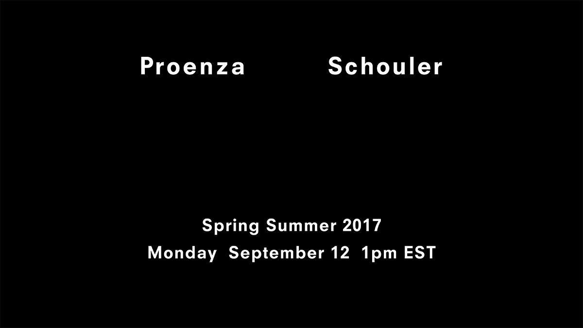 【紐約時裝週Live】Proenza Schouler春夏大秀倒數:9月13日凌晨一點正式登場!