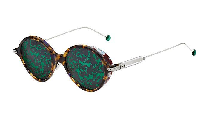 DiorUmbrage綠色樹葉圖騰鏡面太陽眼鏡 NT$21,800