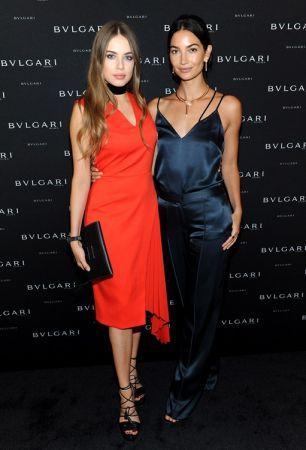 BVLGARI全新形象廣告Larger Than Life發表會 Lily Aldridge與俄羅斯超模Xenia Tchoumitcheva