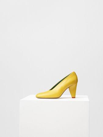 PETAL HEEL 鮮黃小山羊皮高跟鞋 $30,500