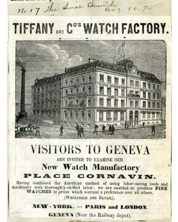 1874年,Tiffany在日內瓦的Place Cornavin建造了一棟當時最現代化的四層樓工坊