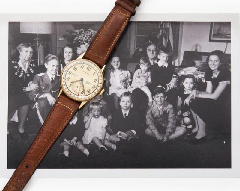 Tiffany CT60腕錶的靈感原型——1945年美國時任總統富蘭克林‧羅斯福獲贈的一枚Tiffany黃金款腕錶