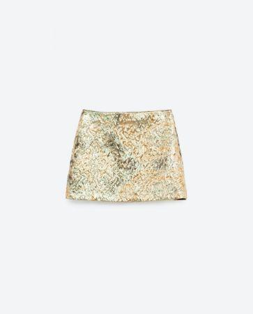 金屬水波紋短裙 NT1190
