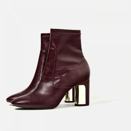 拼接鞋跟短靴 NT1990
