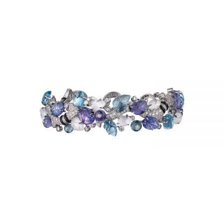 卡地亞頂級珠寶系列海水藍寶手環