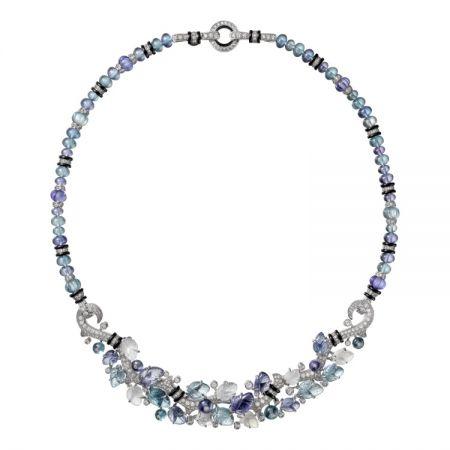 卡地亞頂級珠寶系列海水藍寶項鍊
