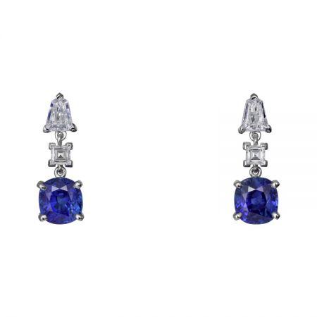 卡地亞頂級珠寶系列藍寶石耳環