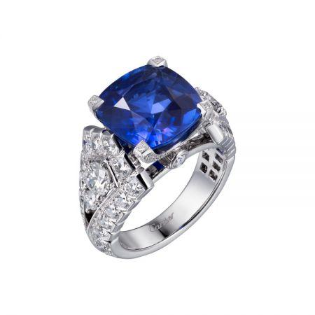 卡地亞頂級珠寶系列藍寶石戒指