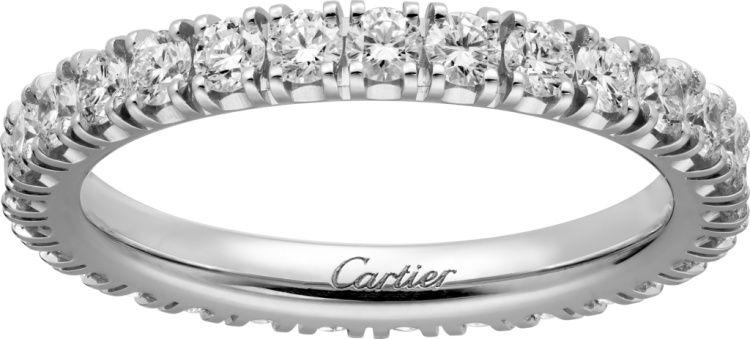 卡地亞單排鑽石婚戒