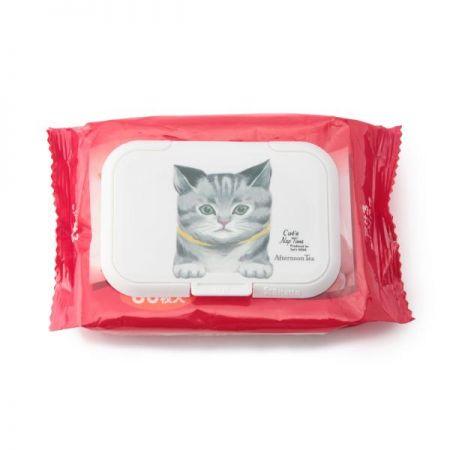 慵懶貓咪重複黏濕紙巾盒蓋,200元