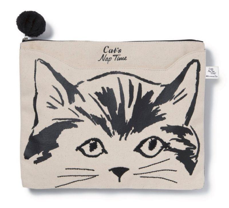 慵懶貓咪手拿包,1280元