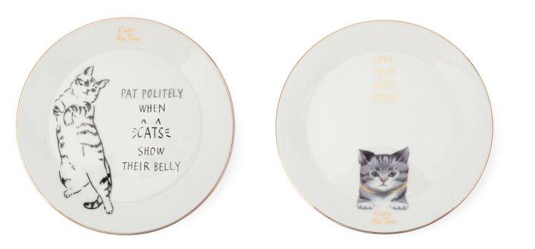 慵懶貓咪餐盤,690元