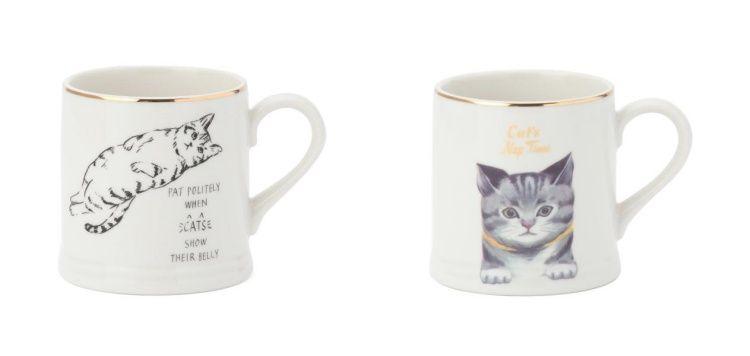 慵懶貓咪馬克杯,520元