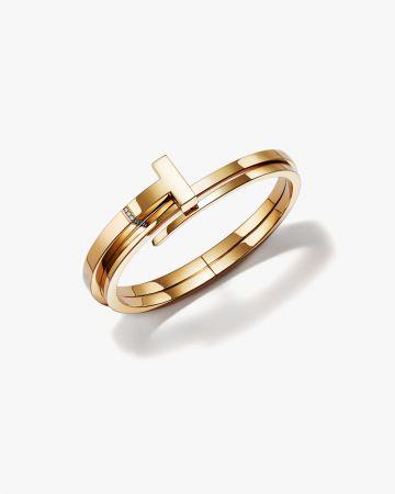Tiffany T Wrap 18K金鑲鑽手環(維多利亞貝克漢配戴款)
