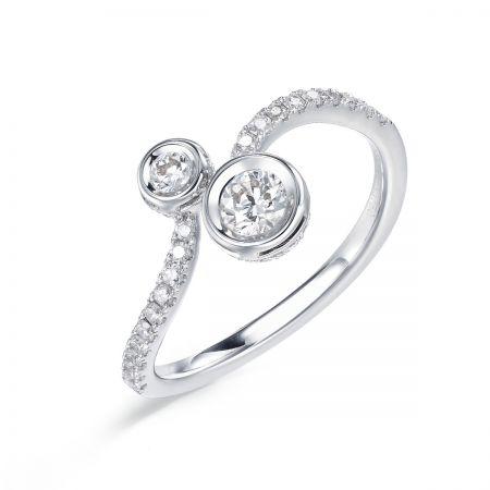 [ Iconic] 點睛品 Infini Love Diamond Iconic系列白金鑽石戒指
