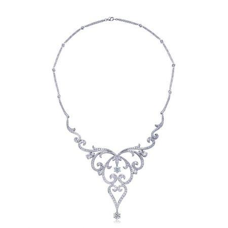 [典雅] 點睛品Infini Love Diamond 典雅系列白金鑽石頸鍊