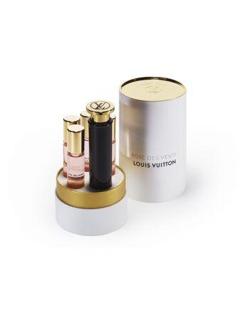 Louis Vuitton 旅行組7.5ml X 4,NT8,600、旅行組填充瓶7.5mlX4,NT4700。