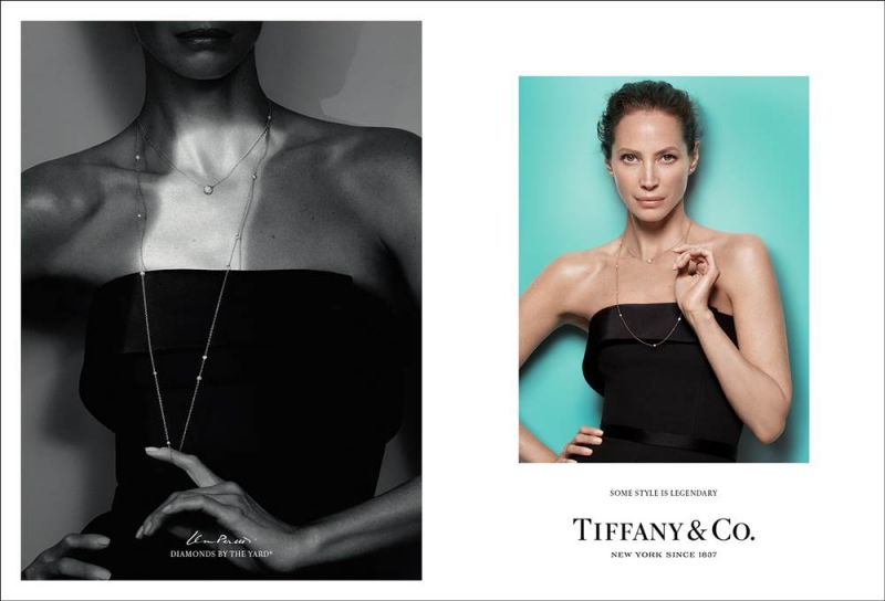 Tiffany 傳奇風格形象廣告 - Christy Turlington 配戴 Elsa Peretti Diamond by the Yard 系列
